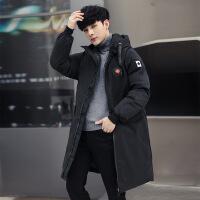 2018新款棉衣男冬季中长款加厚外套潮流韩版大码羽绒棉袄冬天
