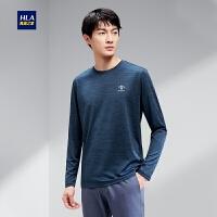 HLA/海澜之家时尚简约长袖T恤2020春季舒适休闲透气长T男