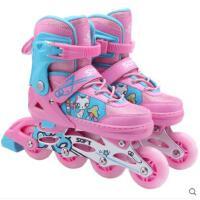 儿童全套装直排轮滑鞋旱冰鞋滑冰闪光可调小孩溜冰鞋