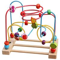 铭塔木制绕珠串珠木玩具大号儿童早教智力宝宝婴儿玩具1-3岁