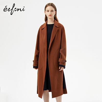 2件4折 伊芙丽新款韩版时尚女装毛呢外套1171134378461