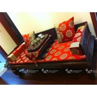 中式家具坐垫罗汉床垫子棕垫海绵垫五件套沙发垫定制 190*95