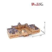 儿童卢浮宫3d立体建筑模型 拼装智力拼插手工diy模型拼图