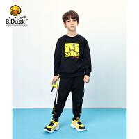 B.duck小黄鸭童装儿童套装2020新款男童春装洋气卫衣两件套中大童BF1181908