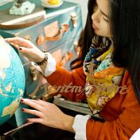 蒙马特大街世界名画真丝桑蚕丝方巾分离派油画丝巾克里姆特Klimt肖像
