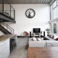 挂钟客厅办公创意时尚复古现代静音大石英钟时钟挂表