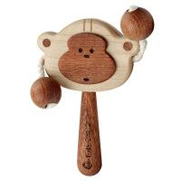 【拨浪鼓】0-6个月儿童玩具宝宝礼物定制刻字可啃咬 ×创木
