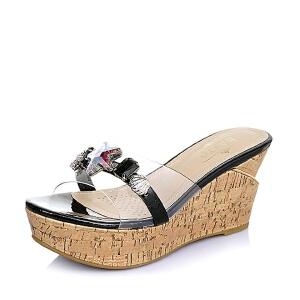 BASTO/百思图夏季专柜同款 漆皮牛皮革女鞋TBZ18BT6