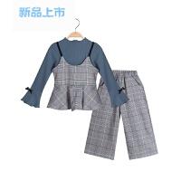童装小孩三件套2018新款韩版时尚春秋洋气衣服女童装时髦套装