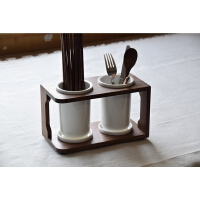 陶瓷筷子筒实木竹子筷子收纳 筷子沥水笼勺子刀叉筷架
