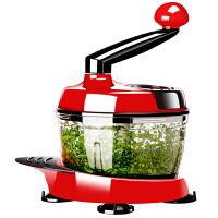 【当当自营】 美之扣手动绞肉机多功能切菜器 红色1.5L(1-3人用)