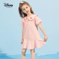 【2件3折:56.7元】迪士尼女童夏装连衣裙宝宝公主裙2021夏新款洋气儿童裙子女童装