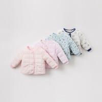 夹棉戴维贝拉冬季新款儿童棉衣宝宝印花内胆DB9618