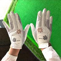 高尔夫手套女款 防滑颗粒耐磨透气双手 防晒高尔夫球童 女士