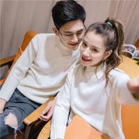2017春季新款韩版纯色休闲时尚针织高领情侣毛衣个性针织衫毛衣潮
