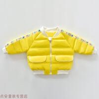 冬季一岁女宝宝冬装0棉衣外套1-3岁2儿童轻薄男婴儿棉袄冬季衣服秋冬新款 黄色