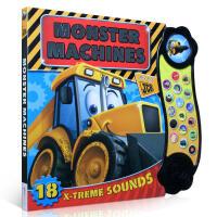 英文原版进口绘本Monster Machines 儿童图发声书纸板书