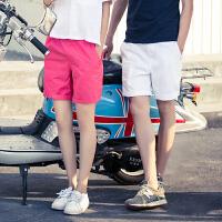 韩版男士纯色休闲裤潮流修身运动短裤夏季直筒学生裤子青年五分裤