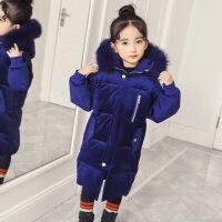 女童棉衣2017新款冬装儿童棉袄中大童外套冬季中长款羽绒加厚