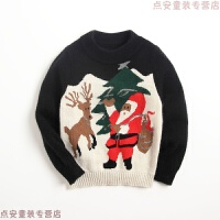 圣诞毛衣儿童羊绒衫 男童半高领女童宝宝针织衫保暖加厚秋冬新款 花色
