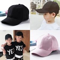 韩版新款儿童鸭舌帽子女潮男童网眼宝宝遮阳帽baby字母棒球帽夏天