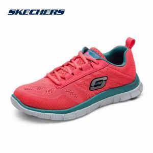 斯凯奇运动女鞋 SPORT糖果色超轻透气记忆棉绑带运动鞋 11729C