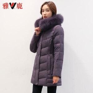 yaloo/雅鹿雅鹿羽绒服 毛领中年女装保暖加厚羽绒衣