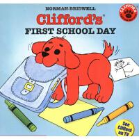 英文原版Clifford'S First School Day大红狗天上学