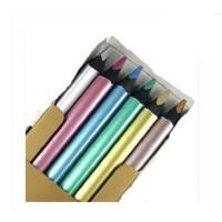 马可金属彩色铅笔 马可粗三角6色金属彩色铅笔 5402B-6CB