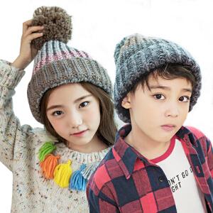 kk树新款宝宝帽子秋冬加绒保暖儿童帽子男小孩毛线帽男女童针织帽