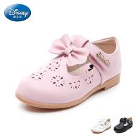 迪士尼Disney童鞋2018新款儿童时装鞋蝴蝶结公主鞋女童甜美透气凉鞋(5-10岁可选) S73747