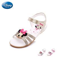 迪士尼Disney 童鞋女童凉鞋夏季新款小童米妮露趾学生鞋儿童休闲凉鞋 DS1991