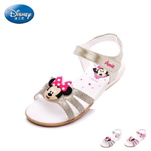 【119元任选2双】迪士尼Disney 童鞋女童凉鞋夏季新款小童米妮露趾学生鞋儿童休闲凉鞋 DS1991