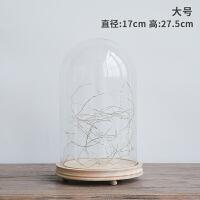 简约现代装饰品干花摆件客厅办公室桌面创意玻璃罩摆设