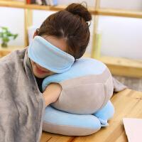 创意冬季暖手抱枕可插手毛绒玩具可爱趴睡午睡枕冬季手捂枕三合一