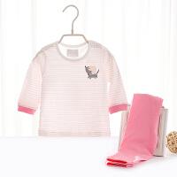儿童宝宝空调服女春夏季婴儿内衣套装薄款长袖新生儿衣服男
