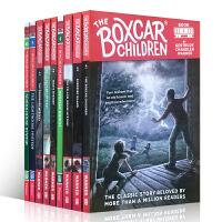 【全店300减100】英文原版绘本小说书 The boxcar children 10本 棚车少年儿童小说书 进阶桥梁章