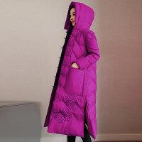 冬装女超长款棉衣羽绒民族风棉袄过膝到脚踝显瘦外套