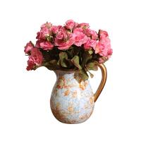田园花瓶摆件客厅插花创意摆设玫瑰花干花花器花艺餐厅装饰品