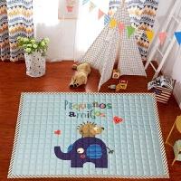 小号棉质爬爬垫儿童爬行垫婴儿加厚客厅折叠防滑地毯卧室机洗家用 110cmx150cm小号
