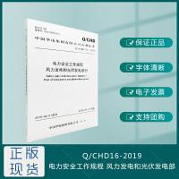 Q/CHD16-2019-电力安全工作规程-风力发电和光伏发电部分