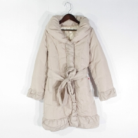 O05035日单冬季新款韩版简约单排按扣显瘦好搭配女纯色中长羽绒服