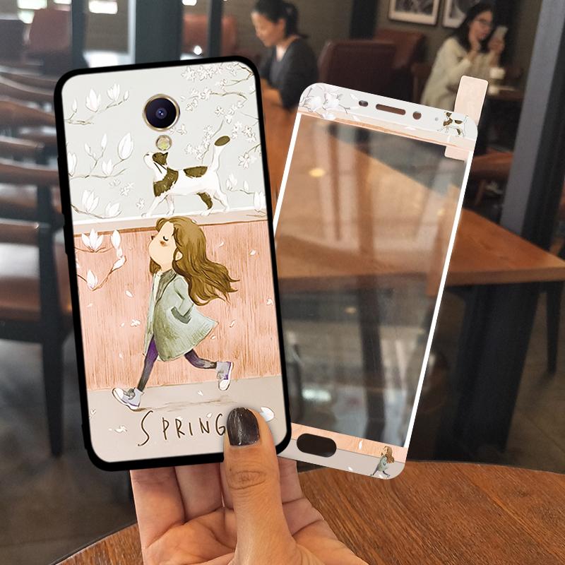 魅族魅蓝note5手机壳软硅胶魅蓝5s女款韩国挂绳5防摔可爱个性创意