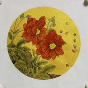 《甜蜜》高级泥金宣纸 张一娜,【R1508】(主图有框效果图,发货为画心)