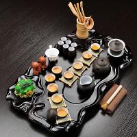 家用整套茶具实木茶盘陶瓷紫砂茶杯茶台茶具套装