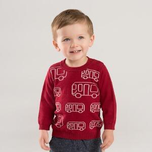 戴维贝拉秋装新款男童针织衫宝宝套头毛衣DB8843