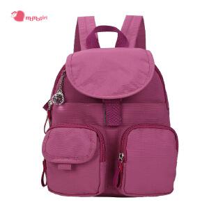 [3件3折 3折价:47.7]momogirl 千叶 双肩包女书包旅行背包学院风双肩背包大容易背包M5197