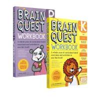 大脑任务 Brain Quest Workbook Grade PreK-K-1 Ages 4-5-6-7岁 3册 英文原版 低龄少儿智力开发练习册 美国学前全科练习