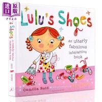 【中商原版】露露生活小习惯 露露的鞋子 Lulu Shoes 幼儿启蒙 生活习惯培养 翻翻书 精装机关操作书 英文原版