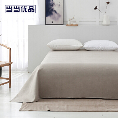 当当优品床单 亚麻双人床单200*230cm